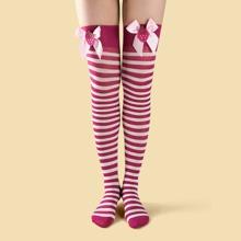 Weihnachten Socken mit Streifen