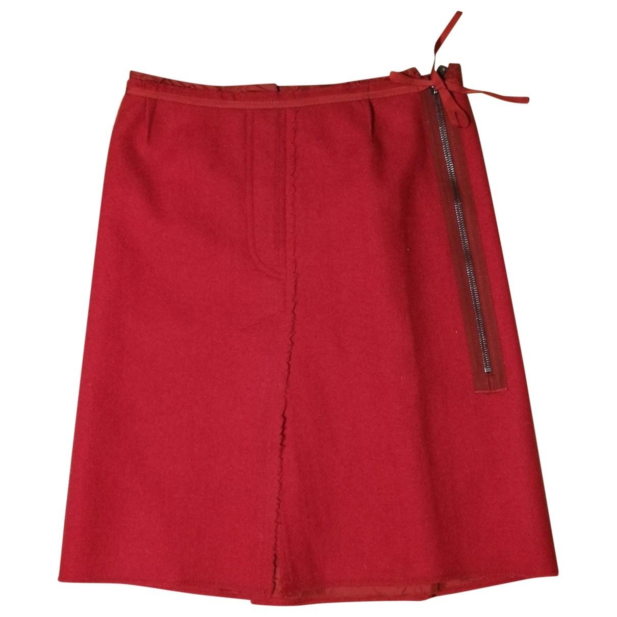 Prada \N Rocke in  Rot Wolle