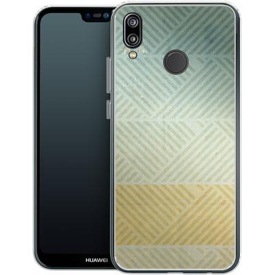 Huawei P20 Lite Silikon Handyhuelle - Triangles Artifact von Brent Williams