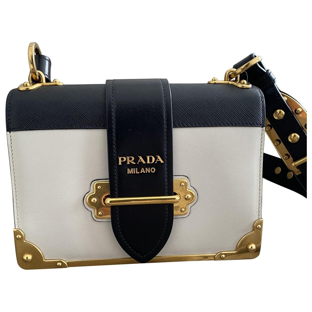 Prada Cahier White Leather handbag for Women \N