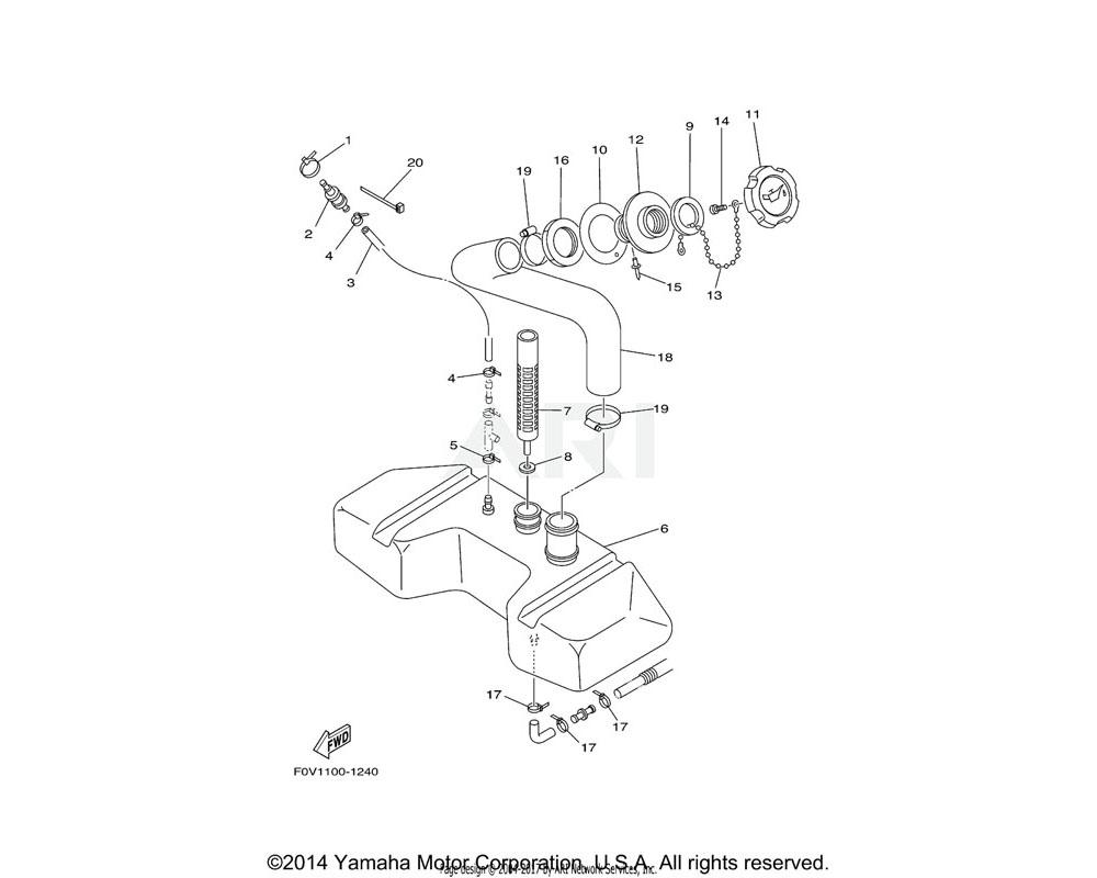 Yamaha OEM F0X-U778H-01-00 NUT, OIL FILLER | YMUS