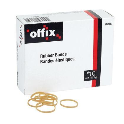 Offix@ Elastic Rubber Bands, 1/4 lb/box - 5/8 x 6 #106