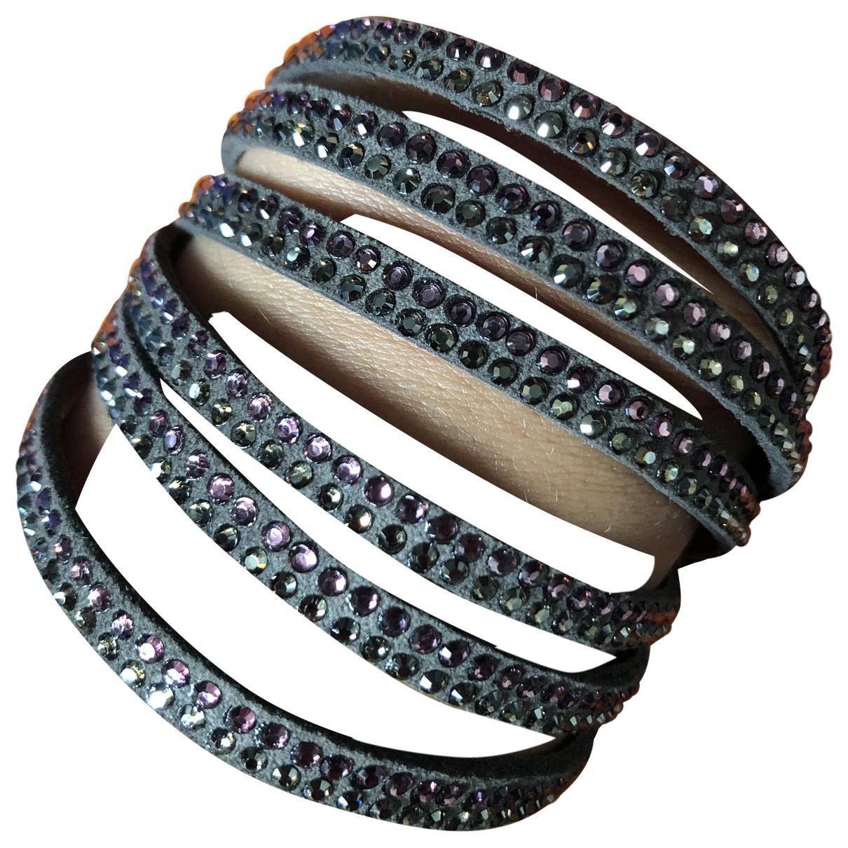 Swarovski - Bracelet   pour femme en cuir - multicolore