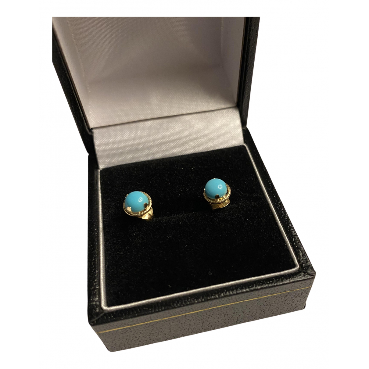 - Bague Turquoises pour femme en or jaune - dore