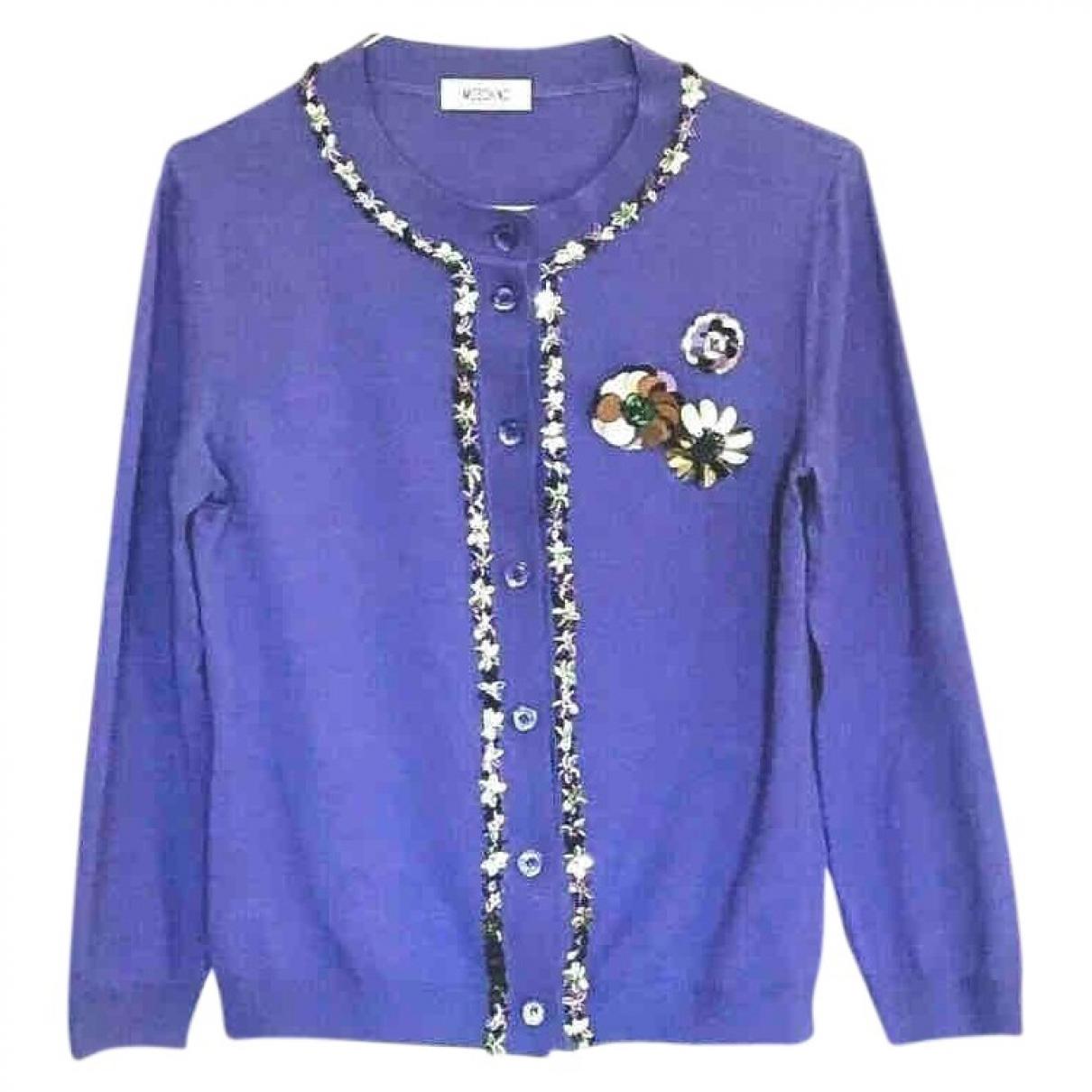 Moschino - Pull   pour femme en laine - violet