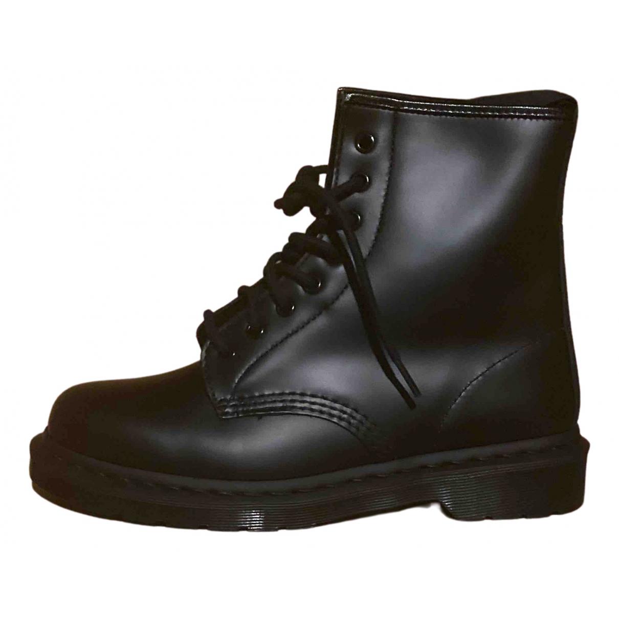 Dr. Martens - Boots 1460 Pascal (8 eye) pour femme en cuir - anthracite