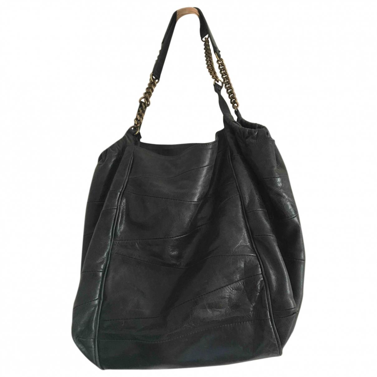 Gerard Darel Simple Bag Handtasche in  Khaki Leder