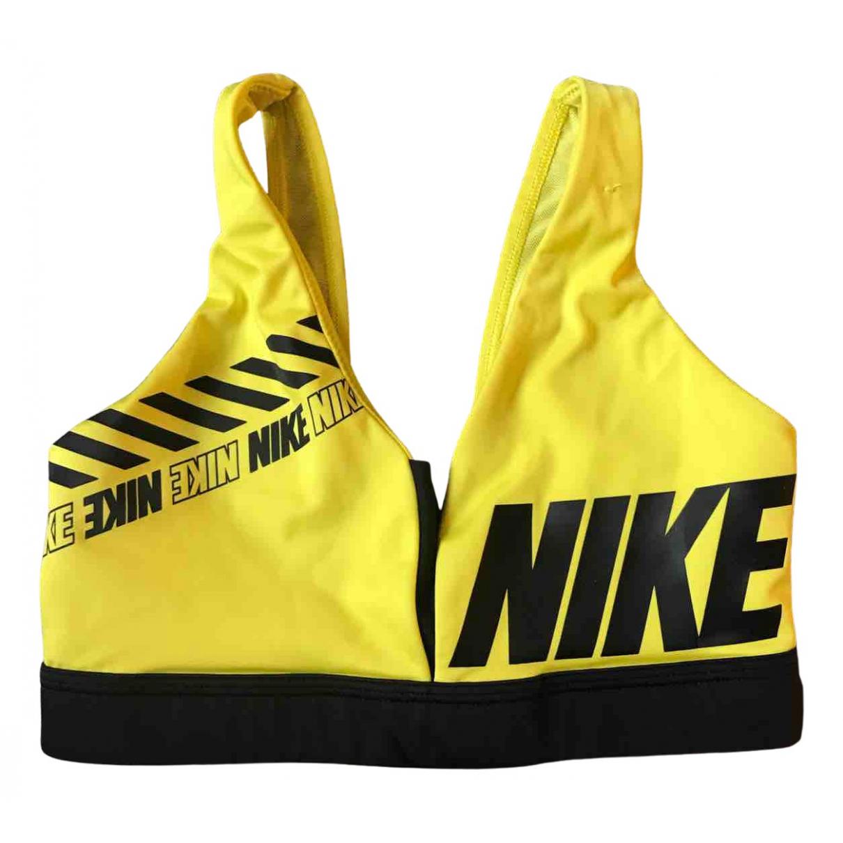 Nike \N Top in  Gelb Synthetik