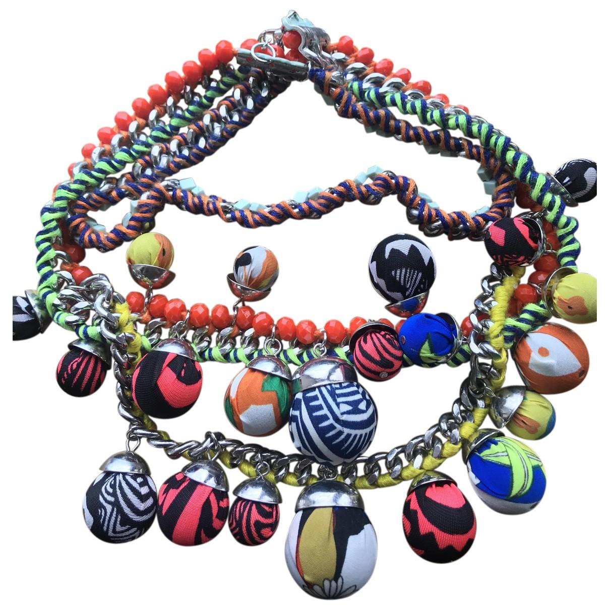 Zara - Collier   pour femme en toile - multicolore