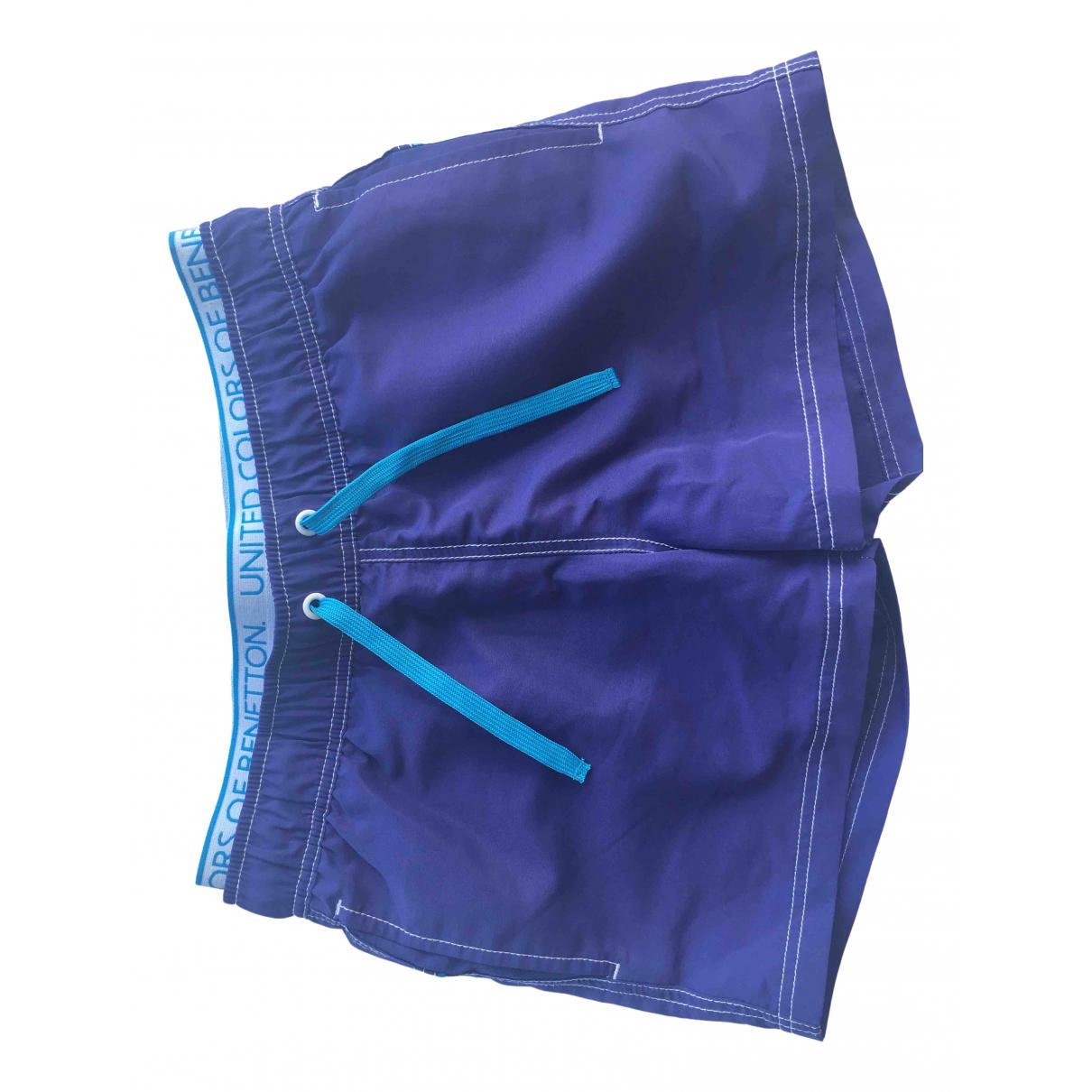 Benetton - Short   pour enfant - bleu