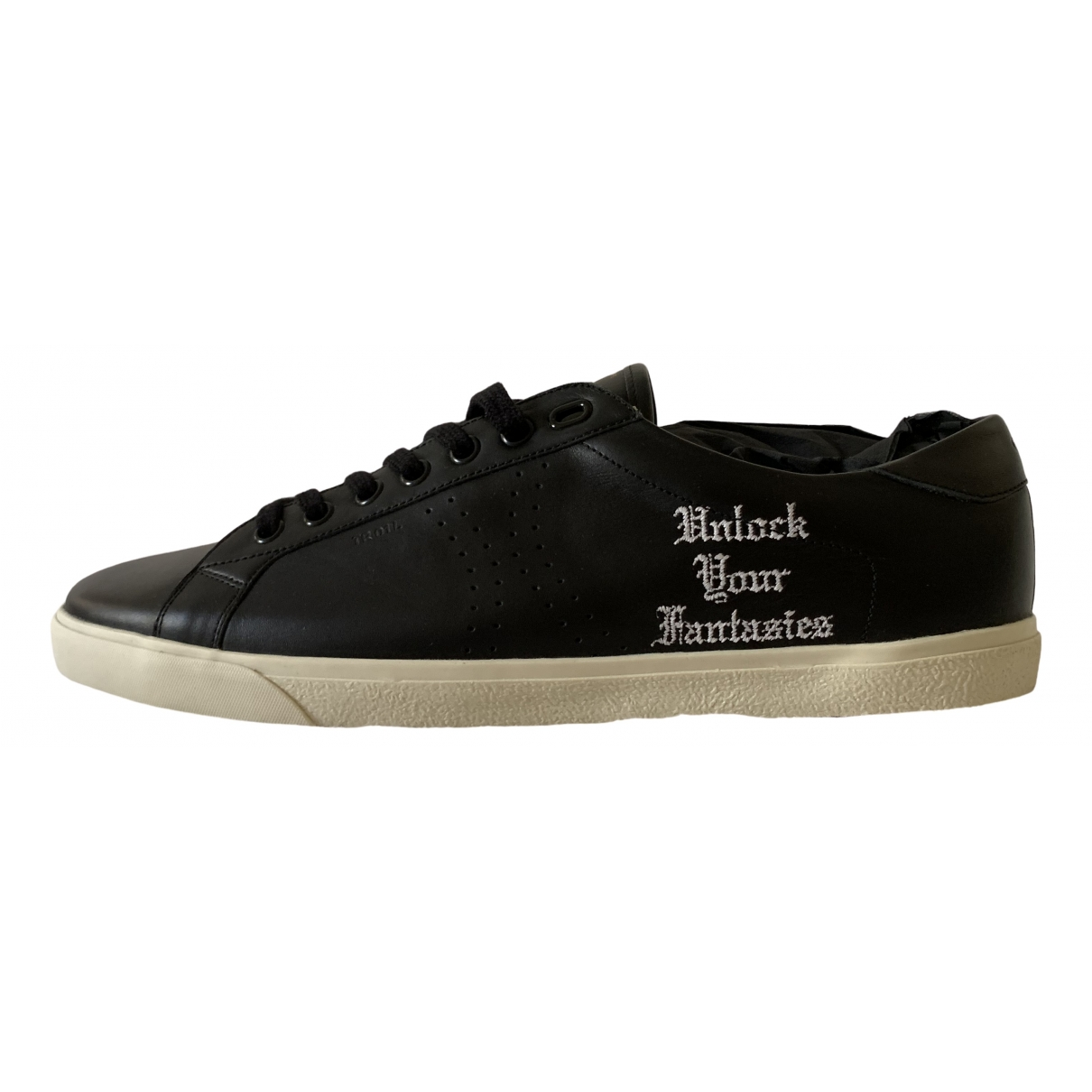 Celine Triomphe Sneakers in  Schwarz Leder