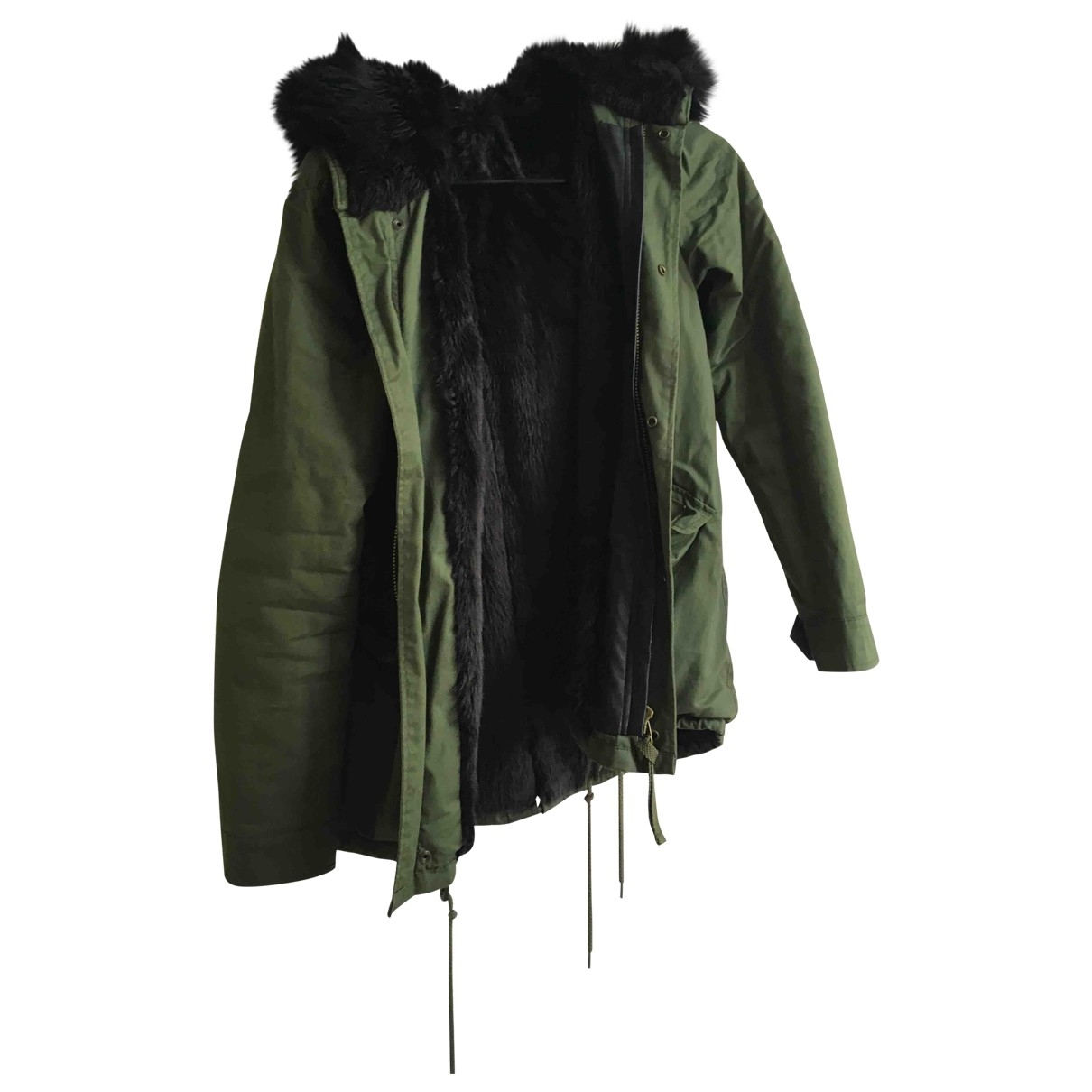 Zara \N Green coat for Women 36 FR