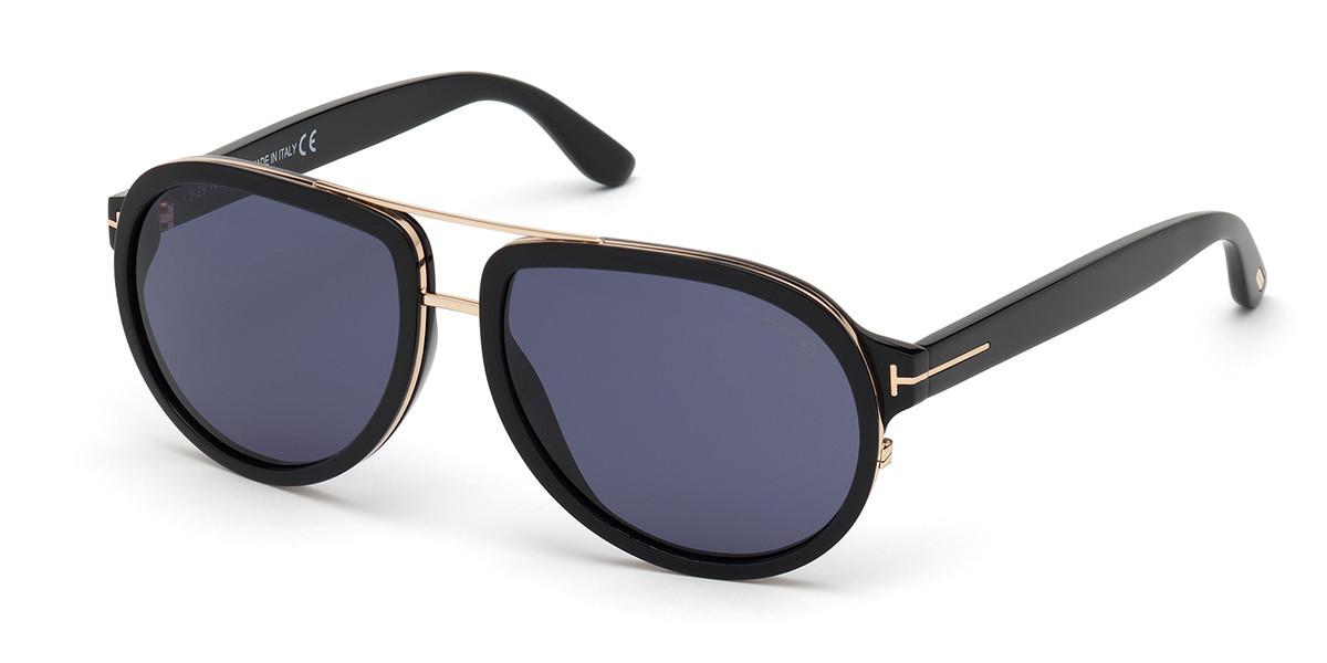 Tom Ford FT0779 GEOFFREY 01V Men's Sunglasses Black Size 58