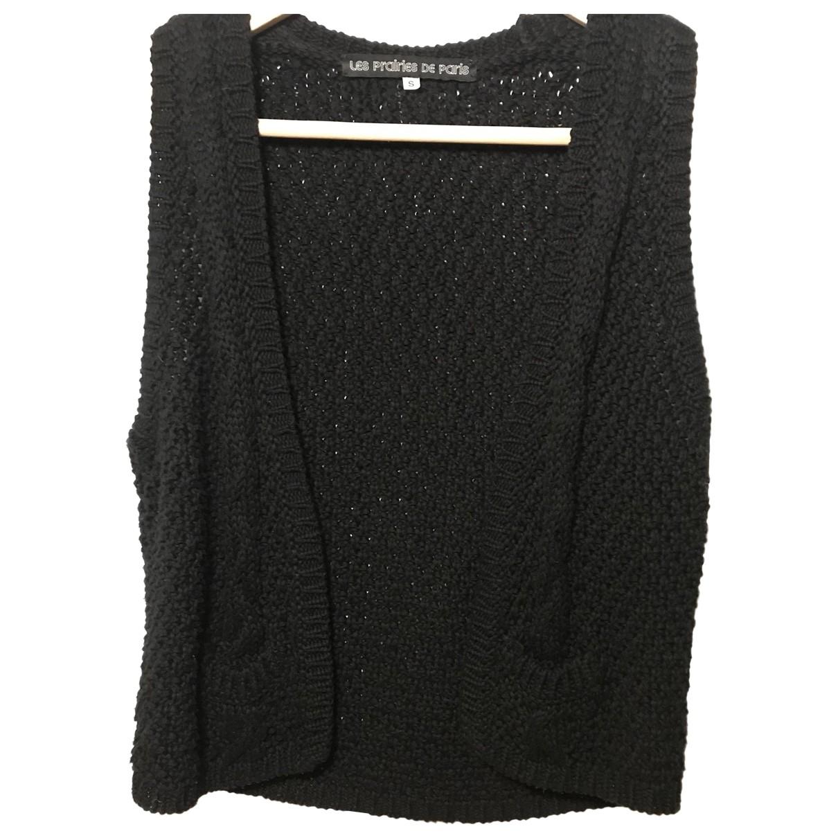 Les Prairies De Paris - Pull   pour femme en coton - noir