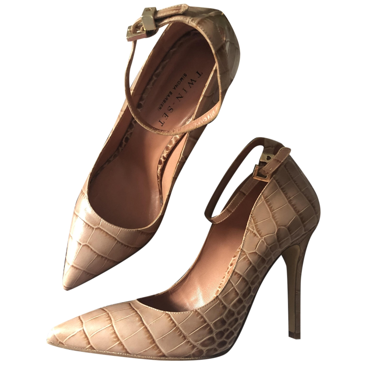 Twin Set \N Camel Leather Heels for Women 39 EU