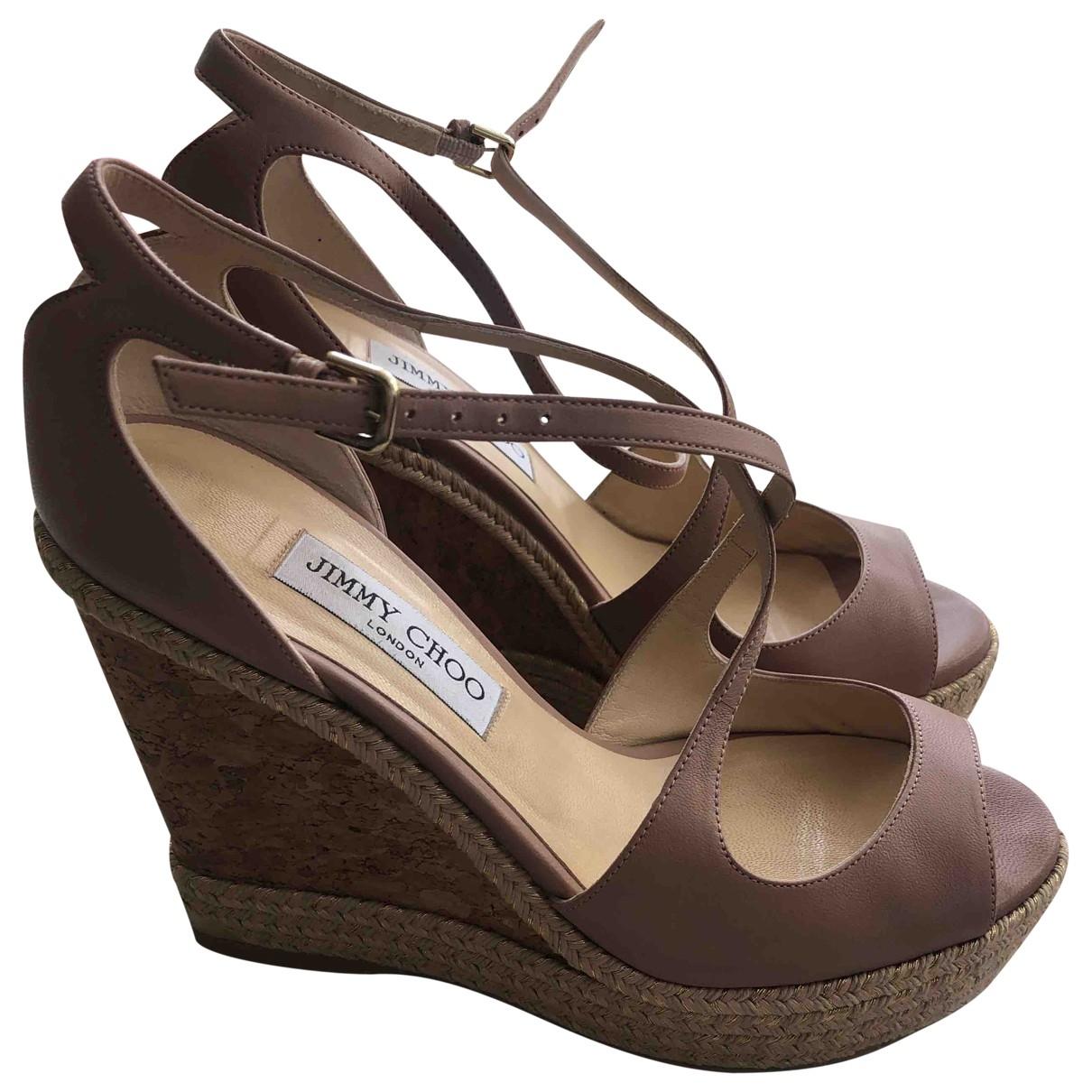 Jimmy Choo \N Leather Sandals for Women 39 EU