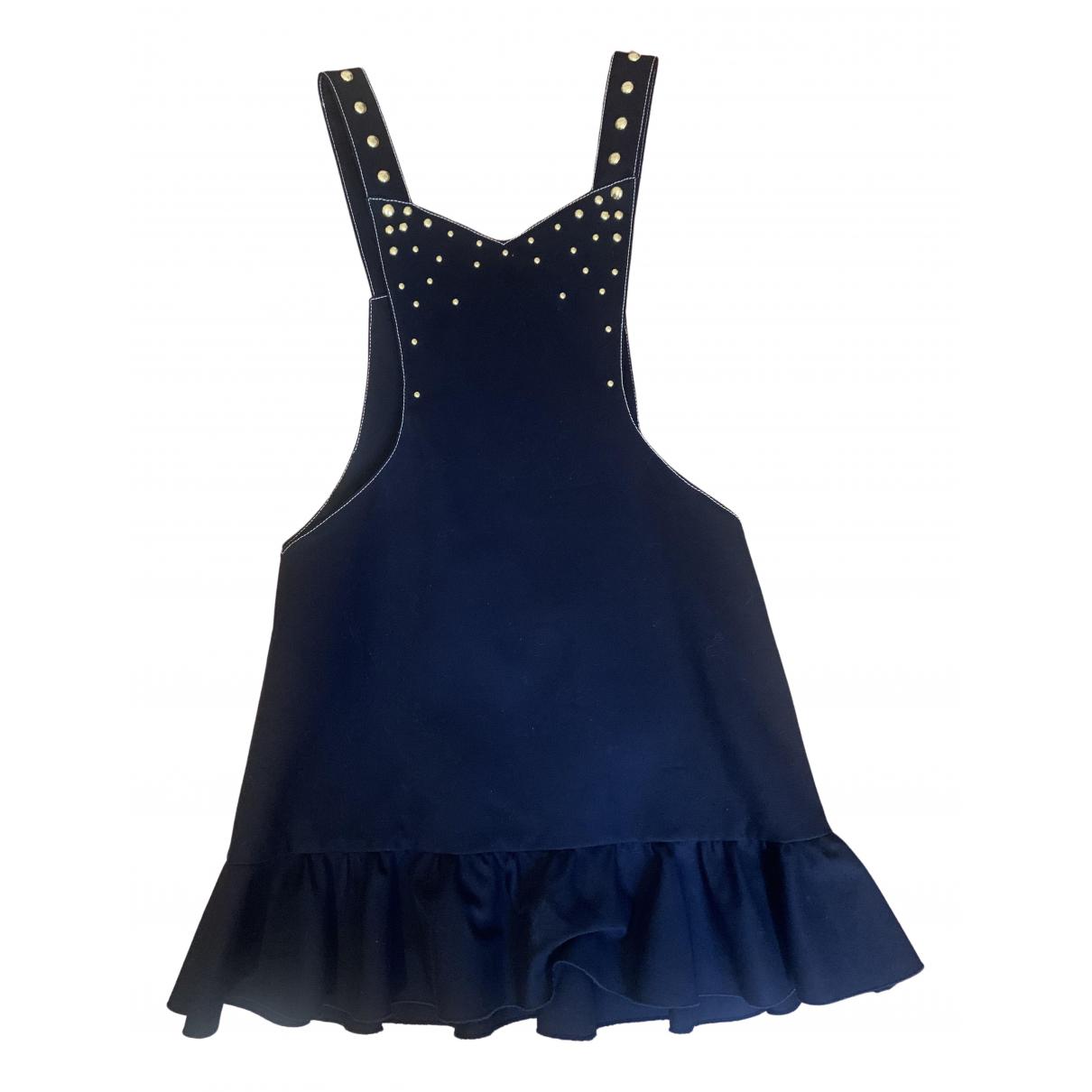 Francesco Scognamiglio \N Kleid in  Blau Baumwolle