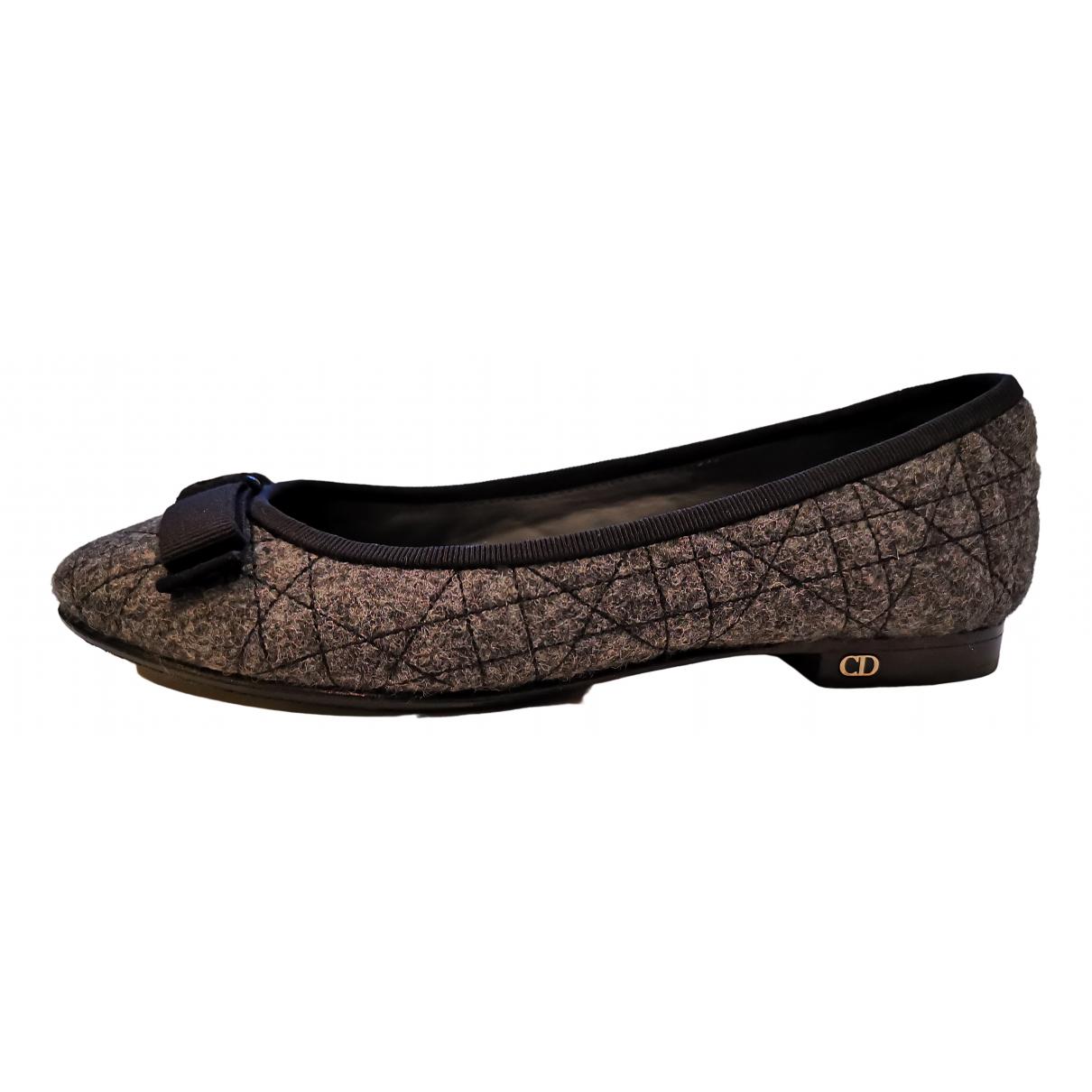 Dior \N Grey Cloth Ballet flats for Women 35.5 EU