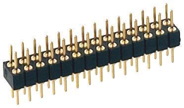 Preci-Dip , 18 Way, 2 Row, Straight PCB Header Pin (5)