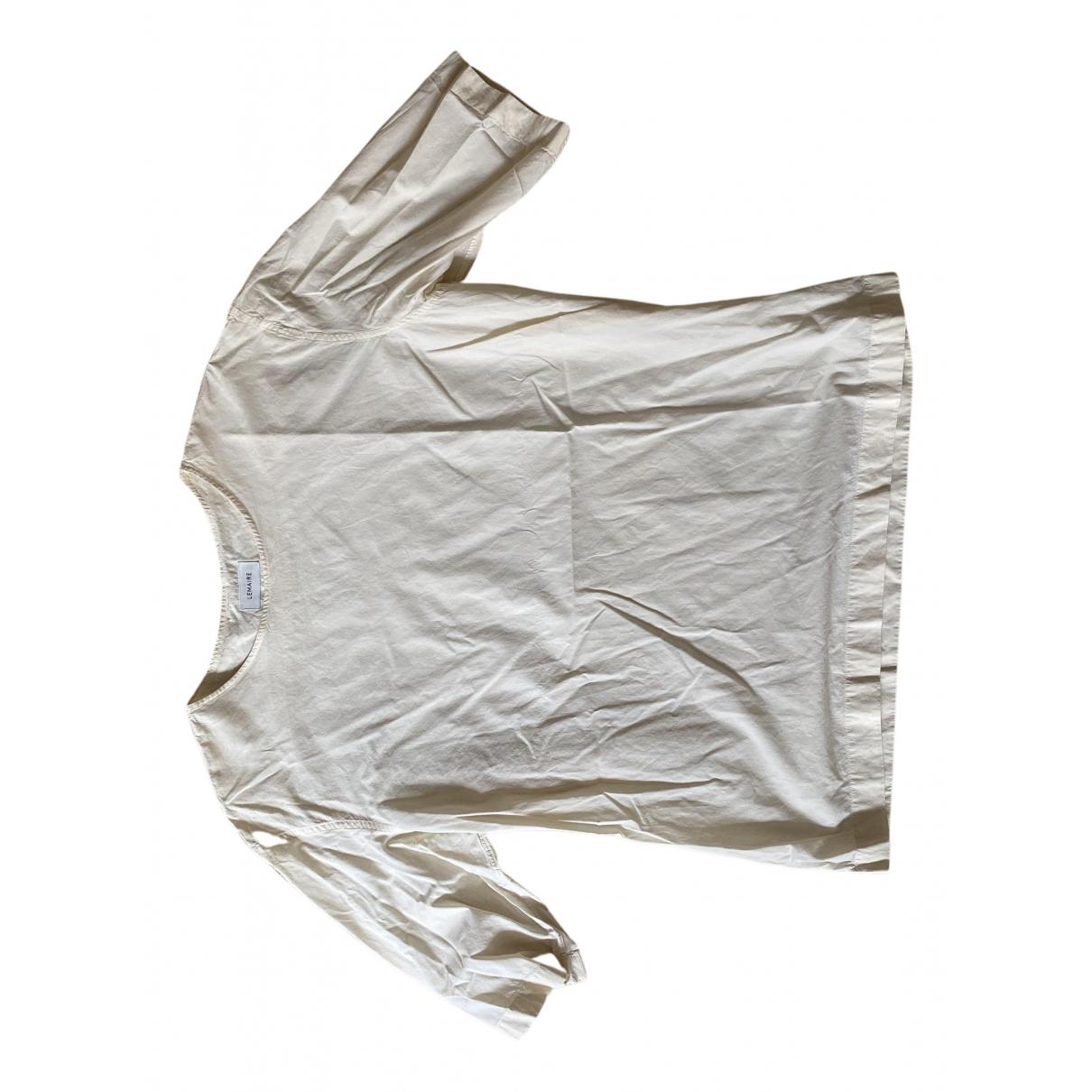 Lemaire \N Ecru Cotton T-shirts for Men L International