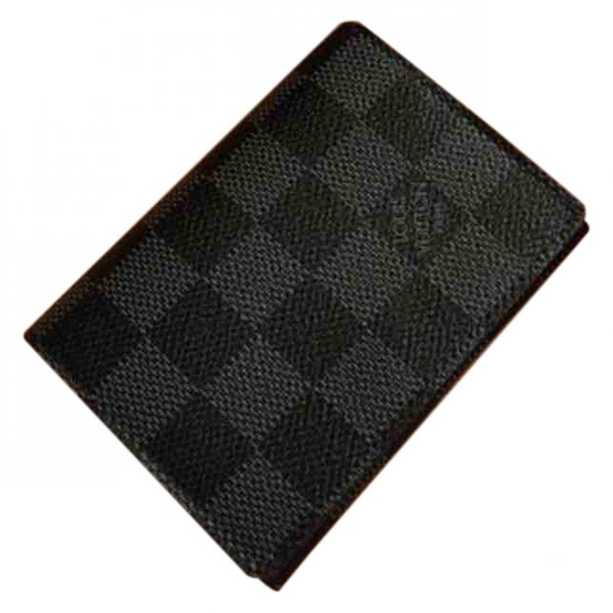 Louis Vuitton - Petite maroquinerie   pour homme en toile - noir