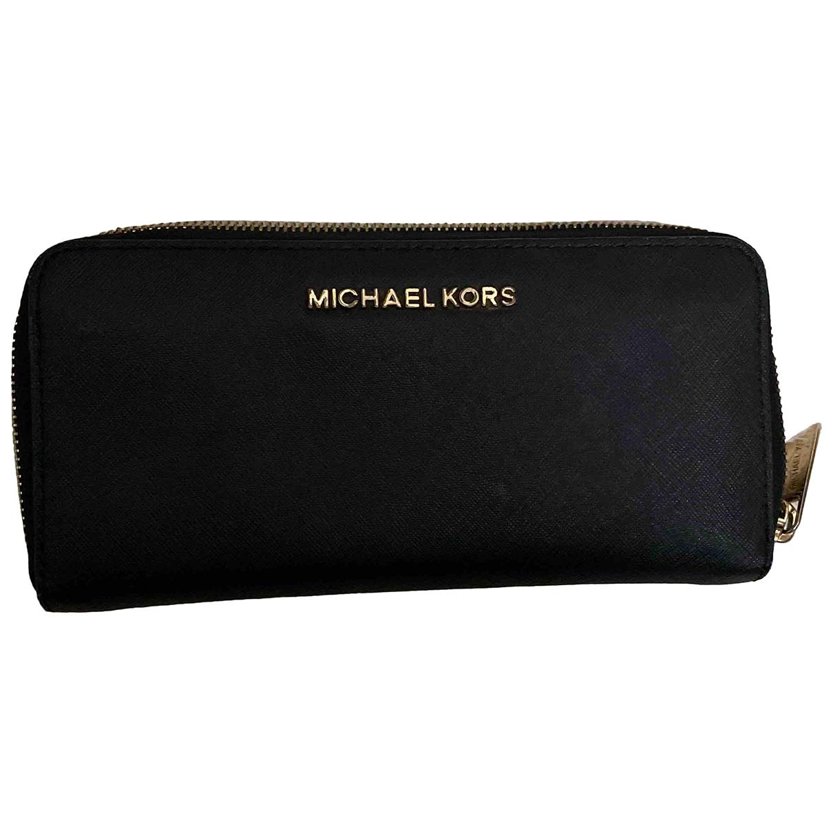 Michael Kors Jet Set Black Leather wallet for Women N