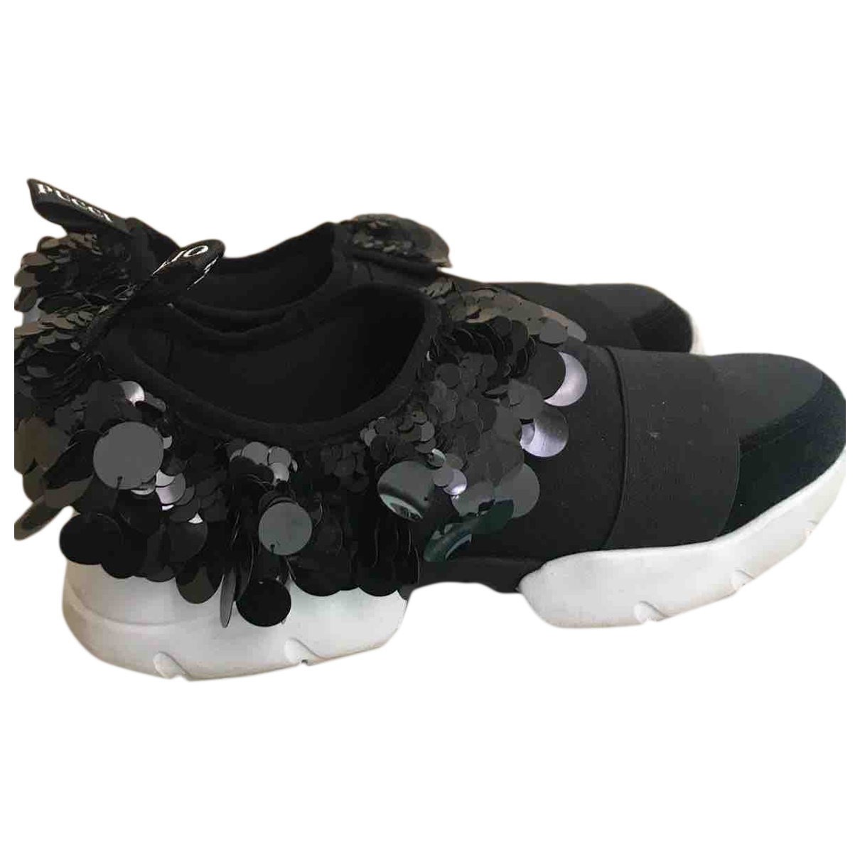 Emilio Pucci \N Black Cloth Trainers for Women 40 EU