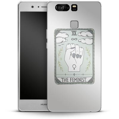 Huawei P9 Silikon Handyhuelle - The Feminist von Barlena