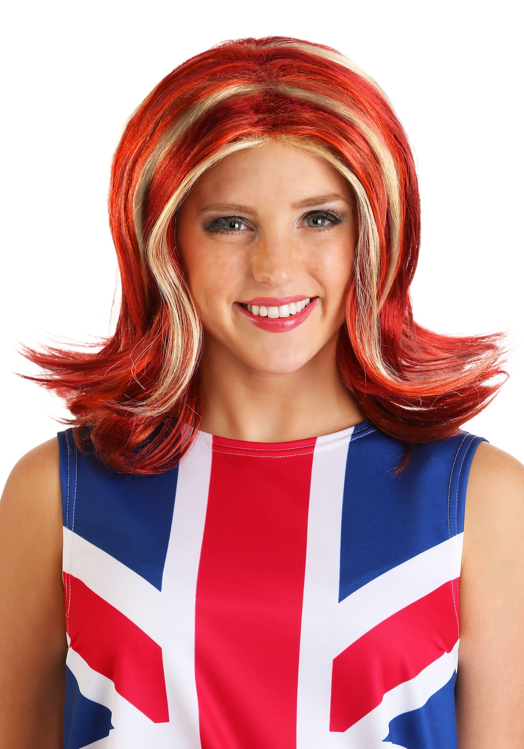 Womens British Girl Power Wig