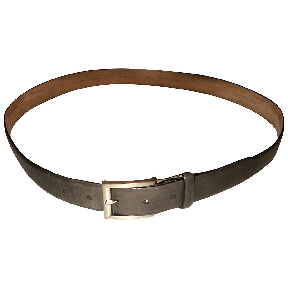 Fratelli Rossetti N Green Leather belt for Men 100 cm