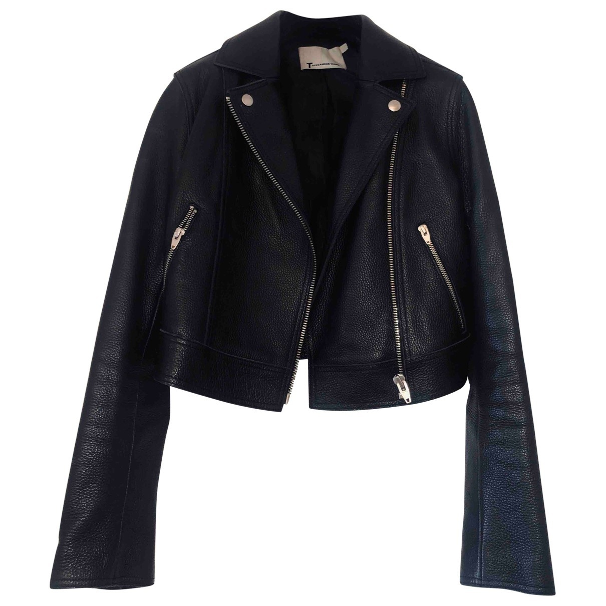 T By Alexander Wang \N Black Leather Leather jacket for Women 2 US