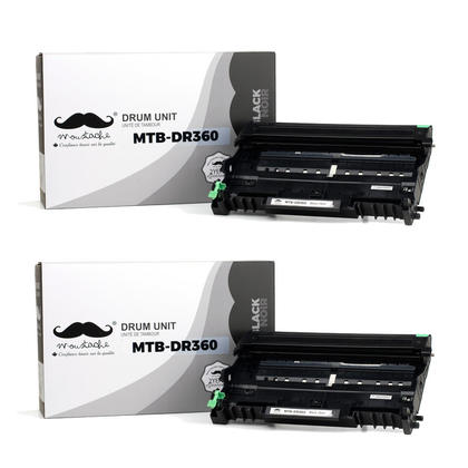 Compatible Brother DR360 Drum Cartridge by Moustache, 2 Pack