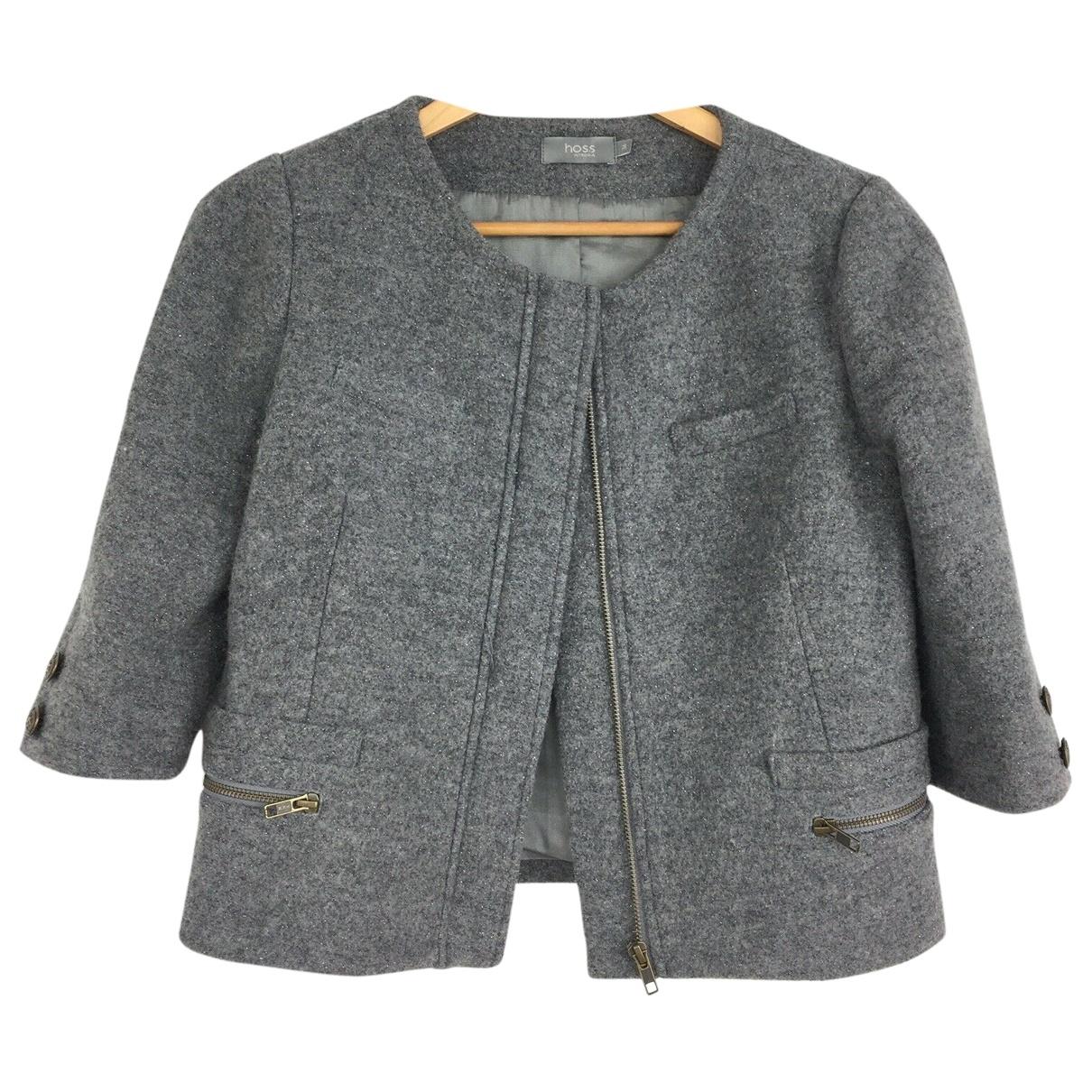 Hoss Intropia \N Jacke in  Grau Wolle