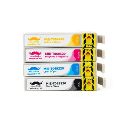 Compatible Epson WorkForce 1300 Ink Cartridges BK/C/M/Y 4-Pack Combo by Moustache