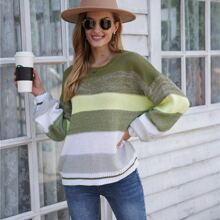 Cut And Sew Drop Shoulder Sweater