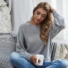 Solid Drop Shoulder Sweater