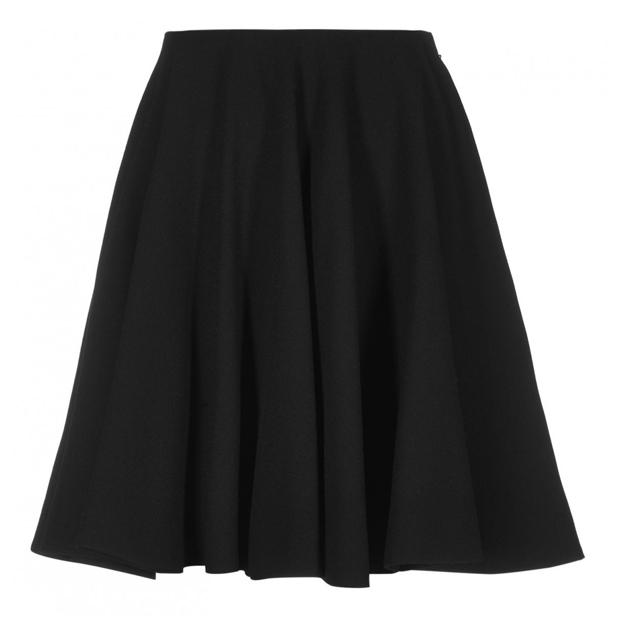Alexander Mcqueen N Black Wool skirt for Women 14 UK