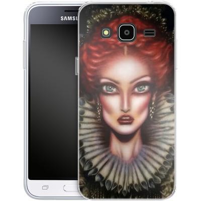 Samsung Galaxy J3 (2016) Silikon Handyhuelle - Queen Elizabeth I von Tiago Azevedo