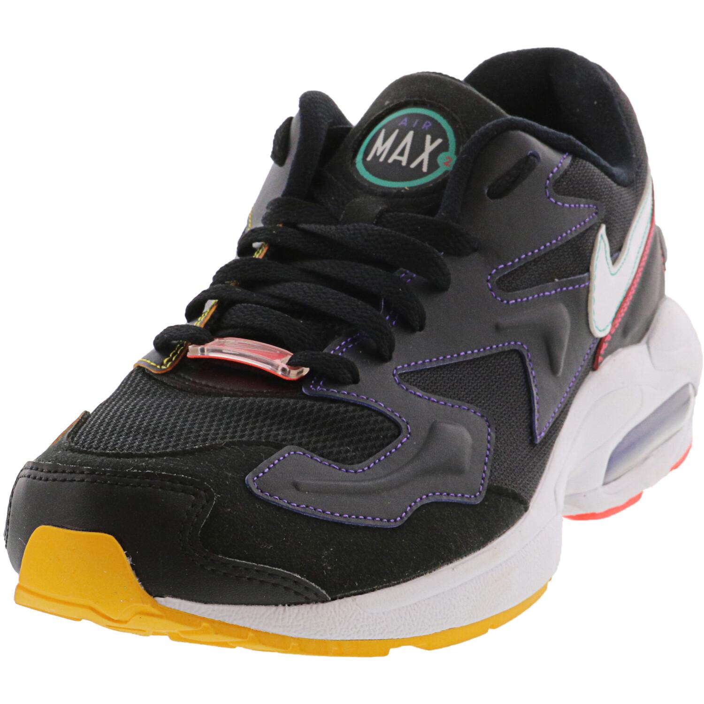 Nike Women's Air Max 2 Light Black / White Psychic Purple Ankle-High Running - 12M