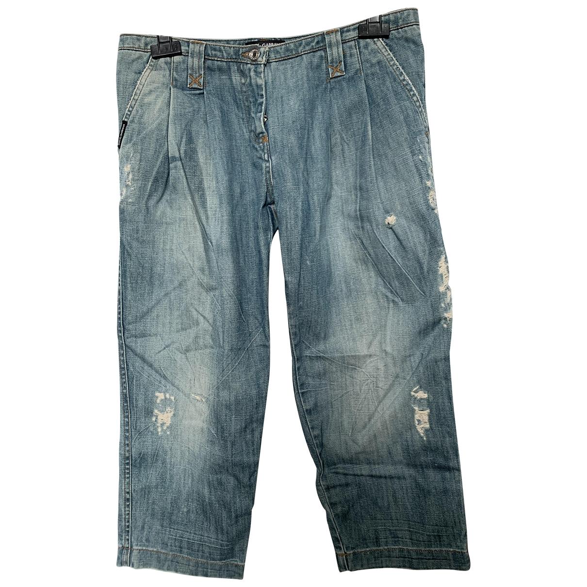 Dolce & Gabbana \N Blue Denim - Jeans Jeans for Women 42 FR