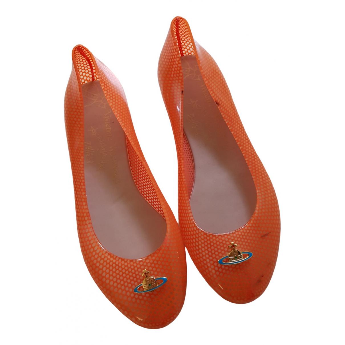 Vivienne Westwood Anglomania \N Ballerinas in  Orange Kunststoff
