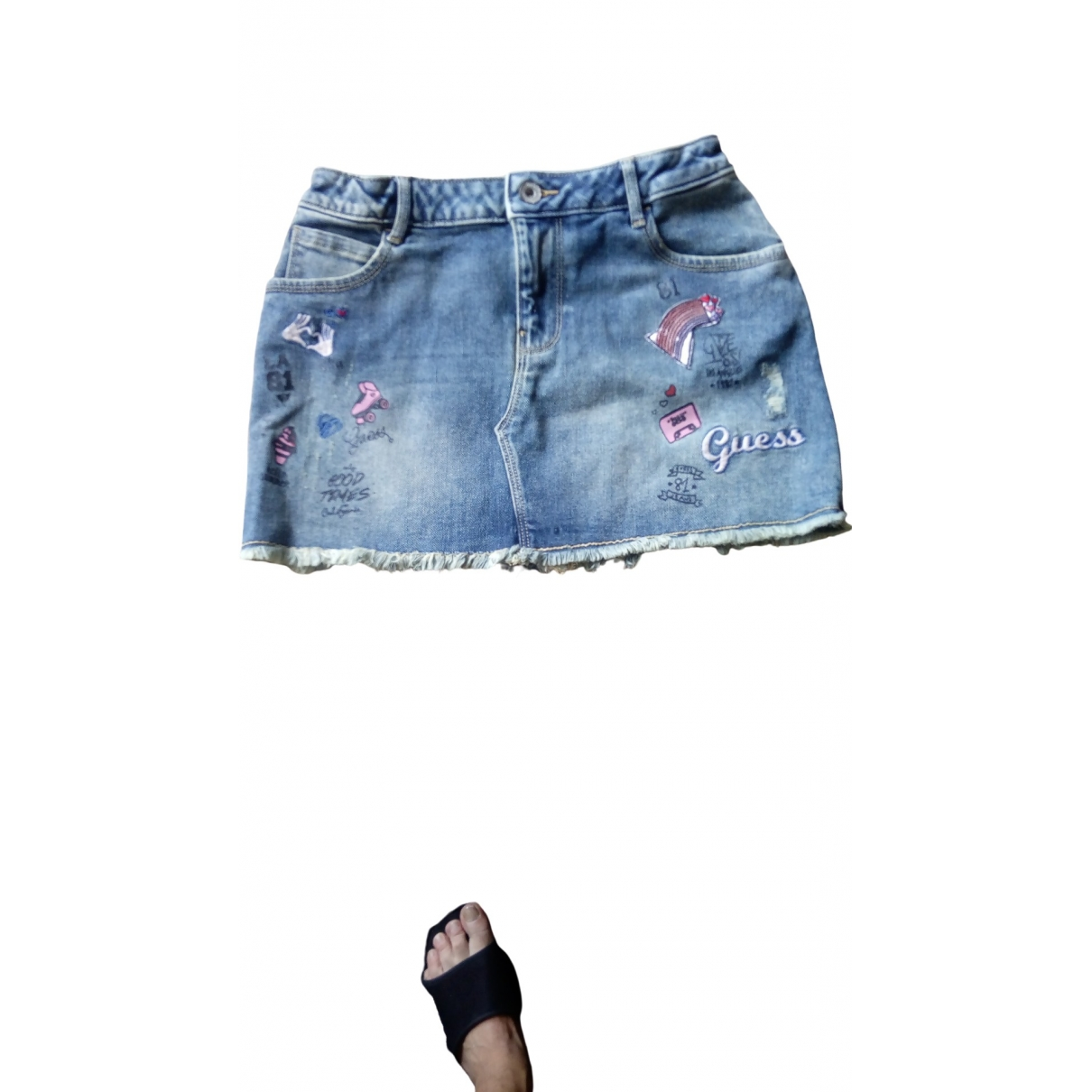 Guess \N Blue Denim - Jeans skirt for Kids 12 years - XS FR