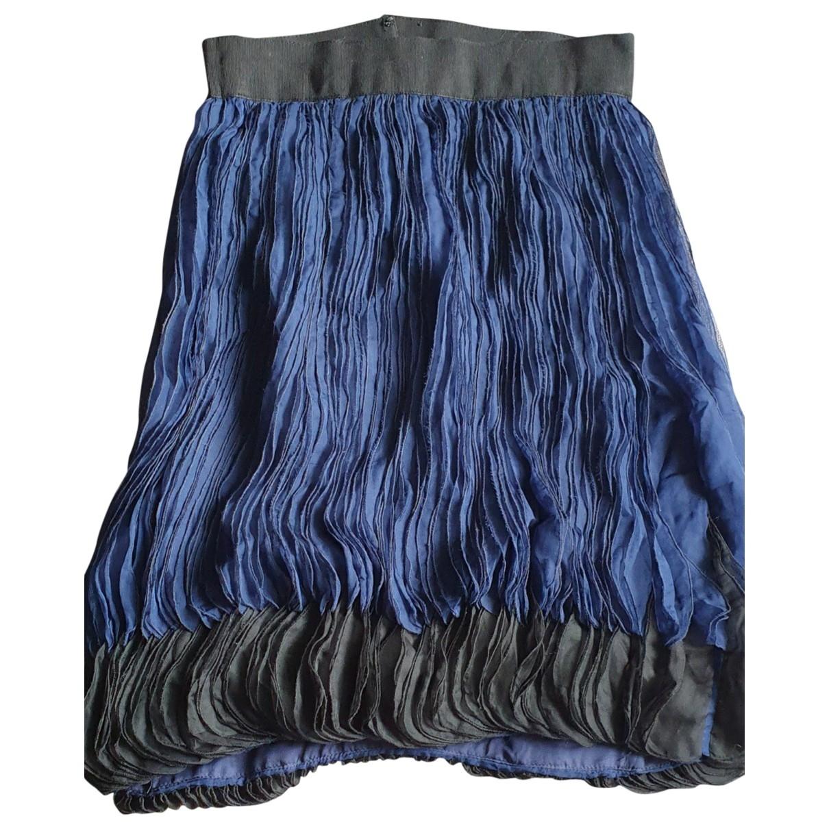 Giambattista Valli - Jupe   pour femme en soie - bleu