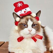 Weihnachten Katze Kopfschmuck mit Schneemann Dekor