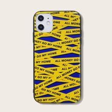 Funda de iphone con estampado de letra