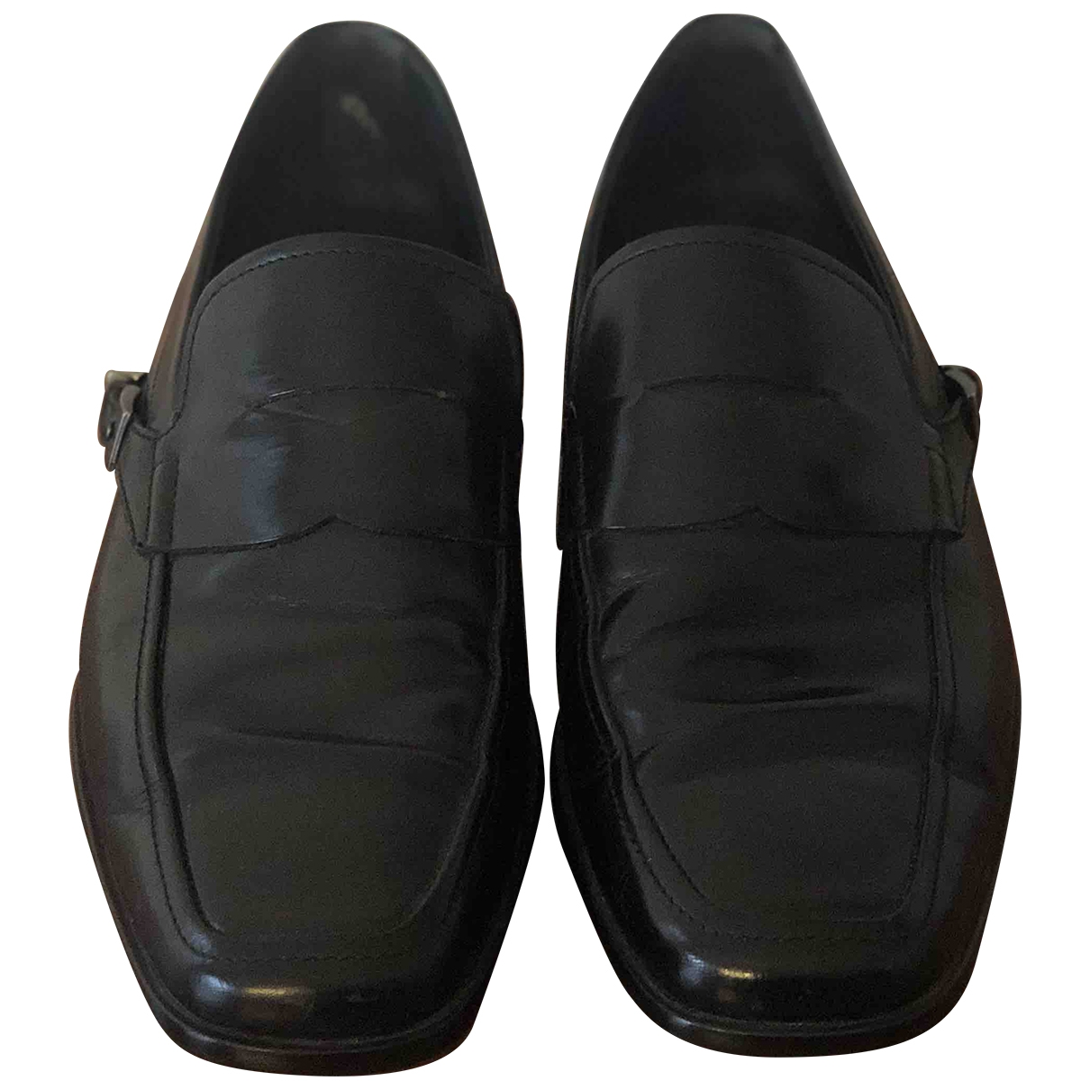 Tod's \N Black Leather Flats for Men 7 UK