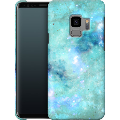 Samsung Galaxy S9 Smartphone Huelle - Abstract Galaxy - Light Blue von Barruf