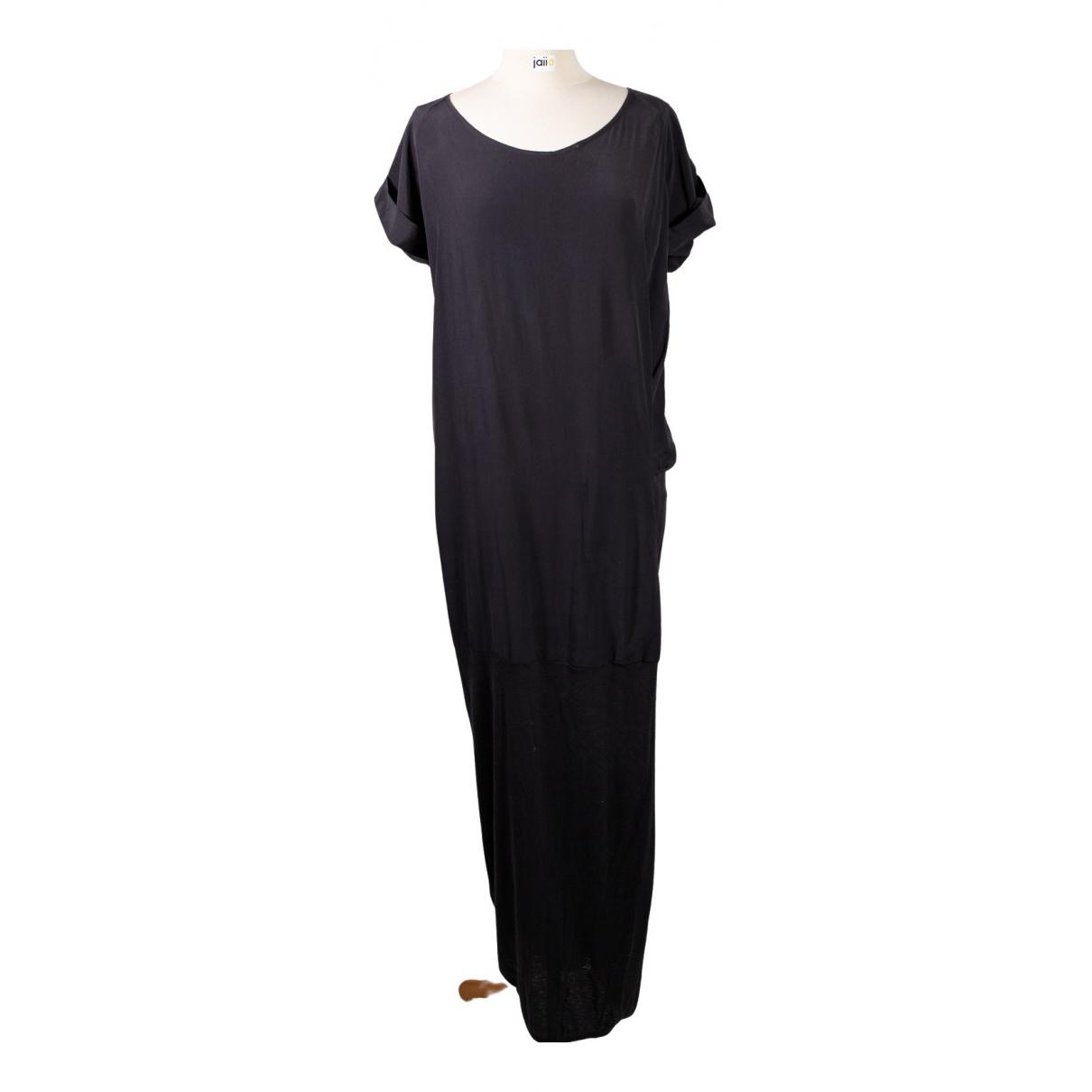 Humanoid \N Kleid in  Schwarz Seide