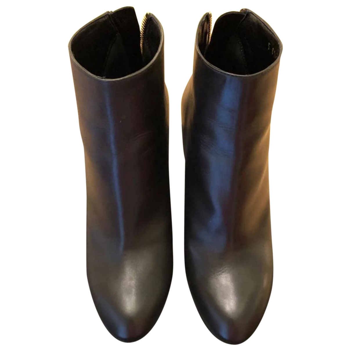 Sergio Rossi \N Black Leather Ankle boots for Women 36 EU