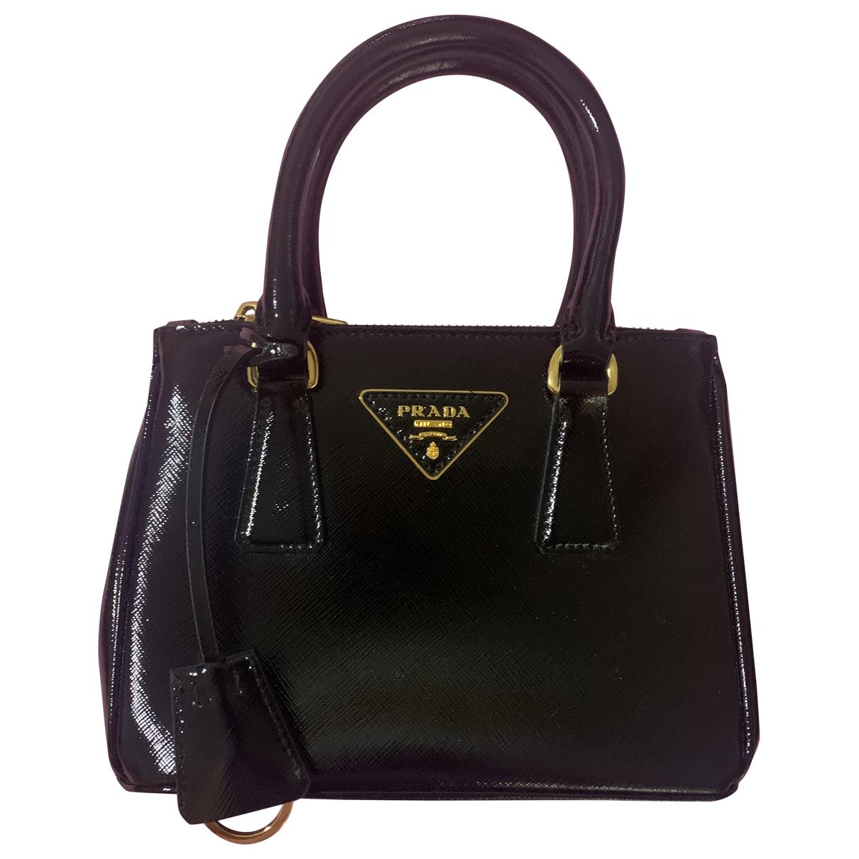 Prada Galleria Black Patent leather handbag for Women \N